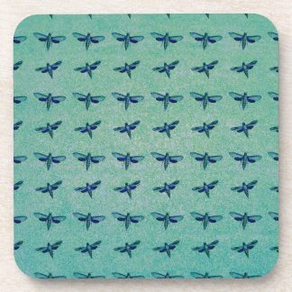 Butterfly blue beverage coaster