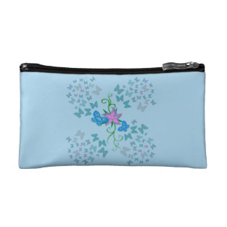 Butterfly Blue Cosmetic Bag