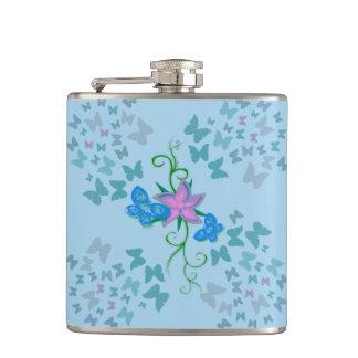 Butterfly Blue Flasks