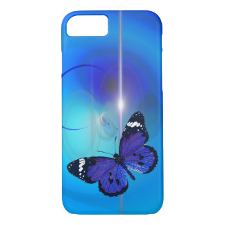 Butterfly Blue iPhone 7 Case