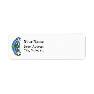 Butterfly Blue Custom Return Address Label
