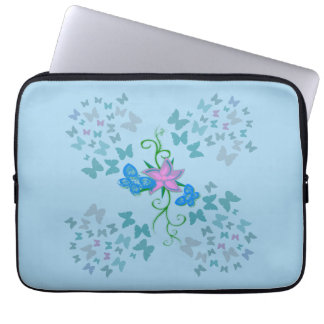 Butterfly Blue Laptop Computer Sleeve