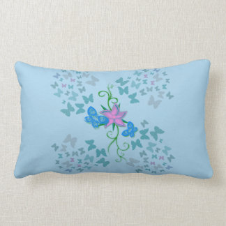 Butterfly Blue Lumbar Pillow