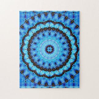 Butterfly Blue Mandala Jigsaw Puzzle