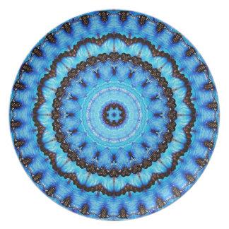 Butterfly Blue Mandala Plate