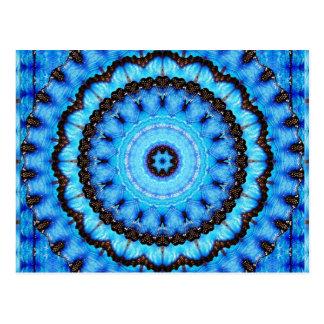 Butterfly Blue Mandala Postcard