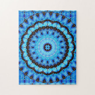 Butterfly Blue Mandala Puzzle