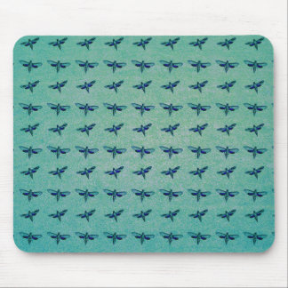 Butterfly blue mouse pad