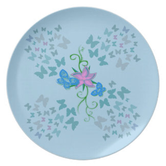 Butterfly Blue Party Plates