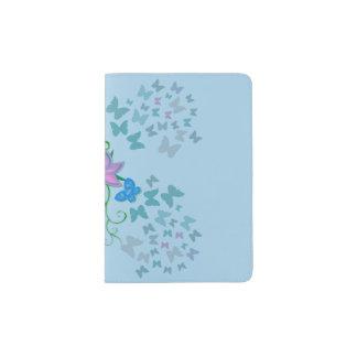 Butterfly Blue Passport Holder