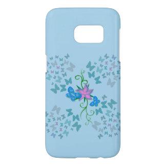Butterfly Blue Samsung Galaxy S7 Case