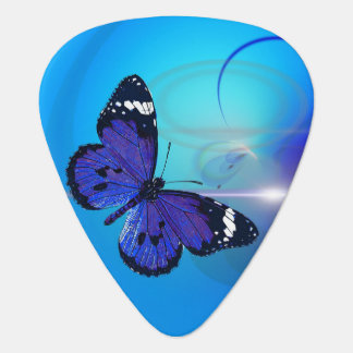 Butterfly Blue Standard Guitar Pick