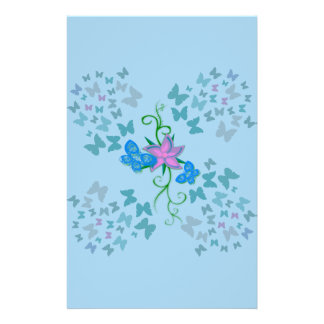 Butterfly Blue Stationery
