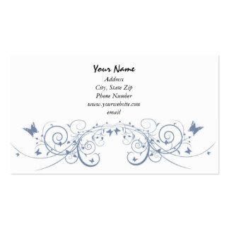 Butterfly Blue Swirls Business Card