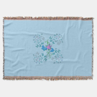 Butterfly Blue Throw Blanket