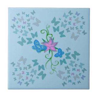 Butterfly Blue Tile