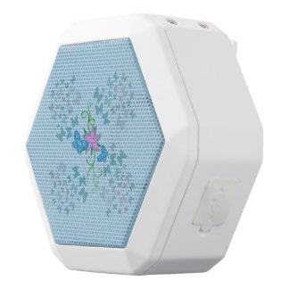 Butterfly Blue White Bluetooth Speaker