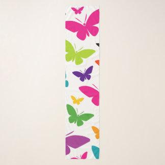 Butterfly Bold Pattern Scatter Print Chiffon Scarf