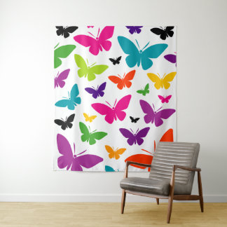 Butterfly Bold Pattern Scatter Print Tapestry