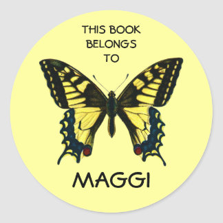 Butterfly Book Labels