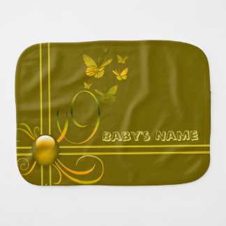 Butterfly Bows 2 Burp Cloth