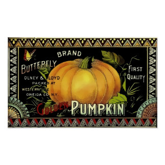 Butterfly Brand Golden Pumpkin Poster