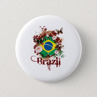 Butterfly Brazil 2 Inch Round Button