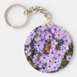 Butterfly Bush Basic Round Button Keychain
