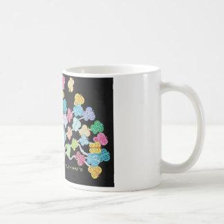 Butterfly Bush Basic White Mug