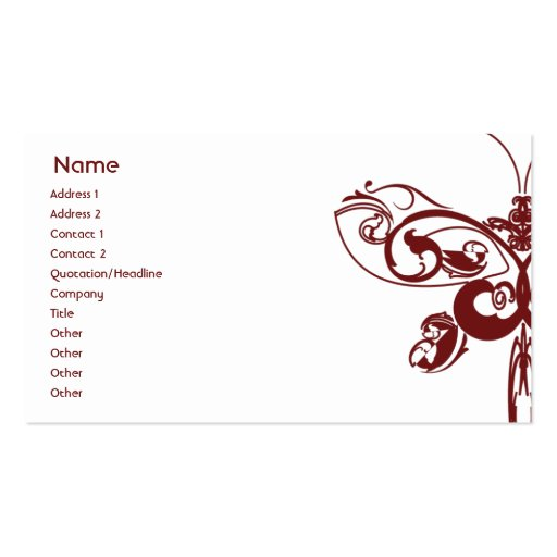 Butterfly - Business Pack Of Standard Business Cards