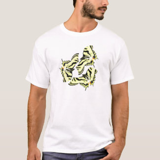 Butterfly Butterflies Colorful Swirly Abstract Art T-Shirt