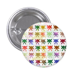 BUTTERFLY butterflies pattern graphic art insects 1 Inch Round Button