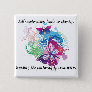 Butterfly Button. Inspiration be with you. 2 Inch Square Button