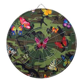 butterfly camouflage dartboard