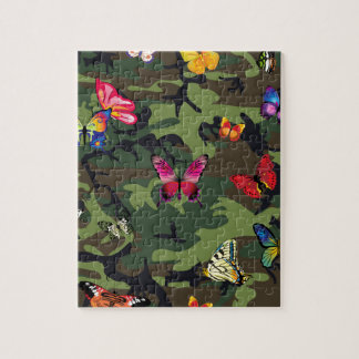 butterfly camouflage jigsaw puzzle
