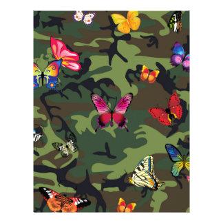 butterfly camouflage letterhead