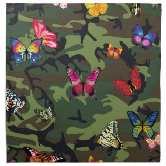 butterfly camouflage napkin
