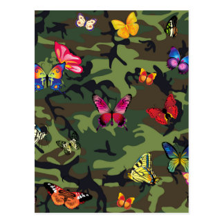 butterfly camouflage postcard