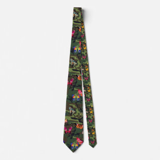 butterfly camouflage tie