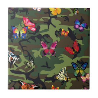 butterfly camouflage tile