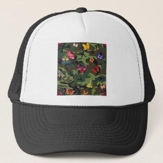 butterfly camouflage trucker hat