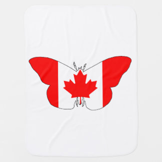 Butterfly Canada Baby Blankets
