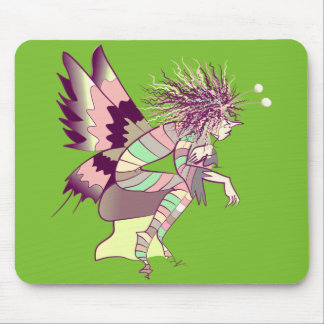 Butterfly Cartoon Artistic Unique Elf Fairy Male Mouse Pad