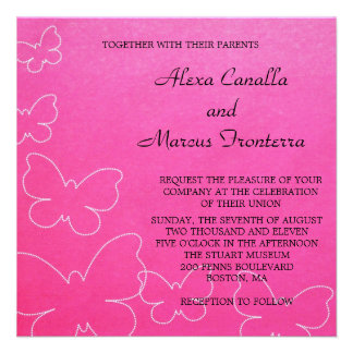 Butterfly Cascade Wedding Invitation