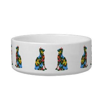 Butterfly Cat Feeding Bowl - Green Cat Water Bowl