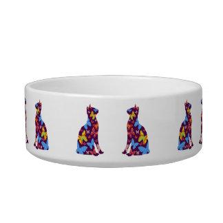 Butterfly Cat Feeding Bowl - Purple Cat Water Bowls