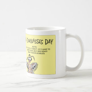Butterfly celebrates National Sunglass Day Classic White Coffee Mug