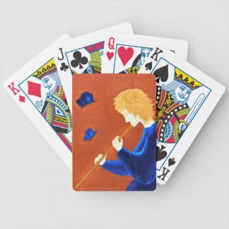 Butterfly charmer bicycle playing cards