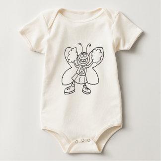 Butterfly Cheerleader Baby Bodysuit