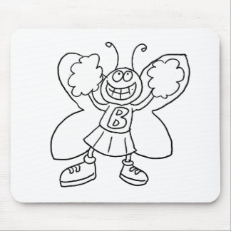 Butterfly Cheerleader Mouse Pad